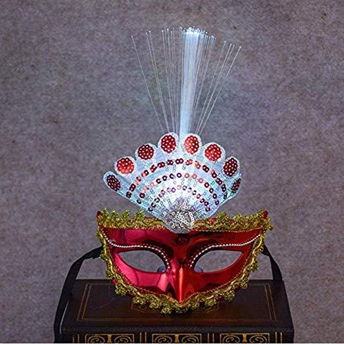 nivgcz Augenmaske Phantasie venezianisch vergoldet Pfau rotes Kleid Erwachsene Partei Kinder Halloween-Karneval Paintball Schießen Karneval Rollenspiel