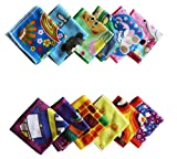 #8: The Home Talk 9x9 inch, Printed Kids face Towel, Pack of 12, Assorted Color and Design