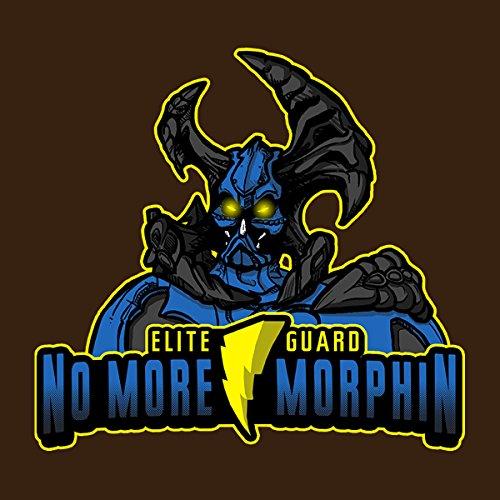 No More Morphin Matacore Power Rangers Women's Hooded Sweatshirt Chocolate