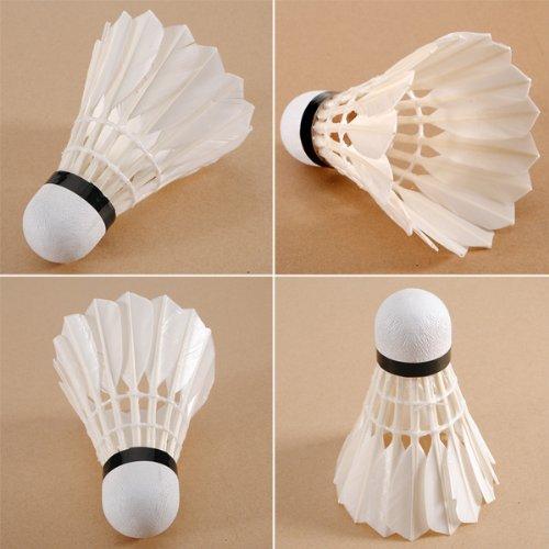 12PCS White Goose Feather Shuttlecocks Birdies Badminton Badminton Feather Birdie