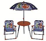 PJ maschere bambini da tavolo, 2sedie e ombrellone da giardino, patio set