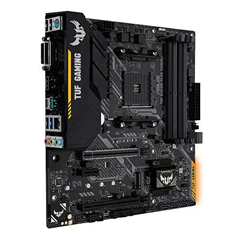 Asus TUF B450M-PLUS GAMING AMD AM4 B450 mATX - Placa base gaming con Aura Sync RGB iluminación LED, DDR4 3466MHz , 32Gbps M.2, HDMI 2.0b, Type C y USB 3.1 Gen 2