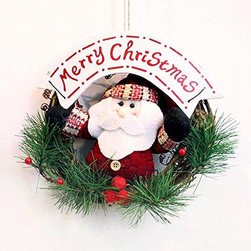 Di Natale A Sospensione 20cm Vecchio Pupazzo Di Neve Di Natale Corona Di Fiori, Due Stili Sono Disponibili ( colore : B )