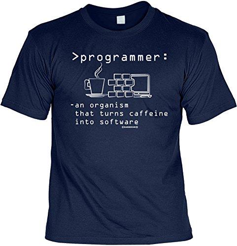 Sprüche Shirt Büro Programmierer Computer : programmer: an organism that turns … (Größe: M) (T-Shirt) (Spiel-programmierer)