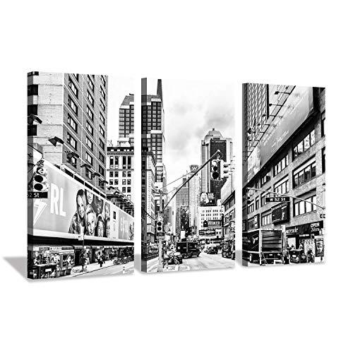 Hardy Gallery Leinwandbild, Stadtlandschaft, Wanddekoration - Urban City Skyline Wandkunst für Wohnzimmer 16
