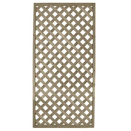 Traliccio rettangolare legno materiale trattato arredo giardino 90x180cm 00237
