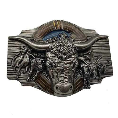 Longhorn Cowboy Cowgirl Bull Rodeo Western Texas Belt Buckle Gürtelschnallen (Longhorn Gürtelschnalle)
