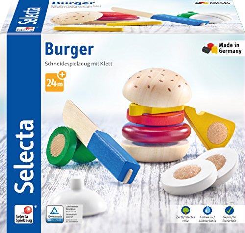 Selecta 62068Burger, Velcro y Cortar Juguete, 12Piezas, Multicolor