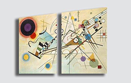 Quadro WASSILY KANDINSKY Composition VIII - RIPRODUZIONE STAMPA SU TELA Quadri Moderni Moderno Arte Astratto Cucina Soggiorno Camera da letto printerland.it (70x100 cm(2pezzi 50x70))