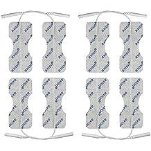 8 elettrodi / pad speciali per schiena e colonna vertebrale, per elettrostimolatori TENS EMS con attacco universale a spinotto da 2mm. Compatibili con Globus e Tesmed