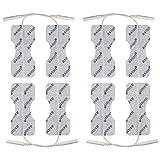 8 électrodes pour le dos et la colonne vertébrale - spéciales applications TENS contre le mal de dos - connexion 2mm - électrostimulation tens et ems
