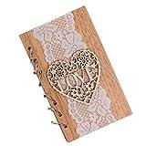 Babysbreath17 Love Letter Holz Hochzeitsdeko aushöhlen Notebook-Spitze-Partei-Geschenke Arbeitsbuch Verpflichtungs