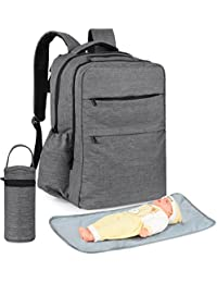 All In One Multifunction Backpack Diaper Bag Baby Nappy Bag Mom Bag For Mom And Dad Fit Stroller - With Changing...