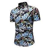 AIni T-Shirt Herren,2019 Mode Neue Sale Beiläufige Sommer Hawaiisch Gedruckt Kurzarm Hemd Tops Oben (XXXL,Mehrfarbig)
