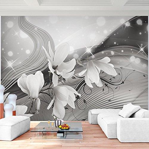Fototapete Blumen Magnolien Schwarz Weiß Vlies Wand Tapete Wohnzimmer  Schlafzimmer Büro Flur Dekoration Wandbilder XXL Moderne Wanddeko Flower  100% MADE IN ...