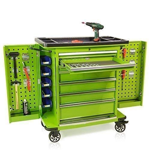 Werkzeugwagen Seitenklappen Pro Serie grün