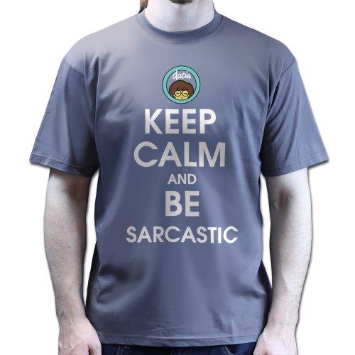 Keep Calm and Be Saracastic Daria Inspired T-shirt Dunkelgrau