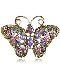 De cuento de hadas de imitación joya violeta Amatista inspiración Vintage Pin broche de la mariposa