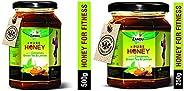 Zandu Pure Honey with Cinnamon, Green Tea and Lemon- 500g & Zandu Pure Honey with Cinnamon, Green Tea and