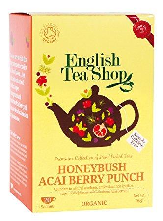 Englisch Tea Shop Bio-Kräutertee Honeybush und Acai-Beeren natürlich Koffeinfrei - 6 x 20 Sachets (180 Gram)