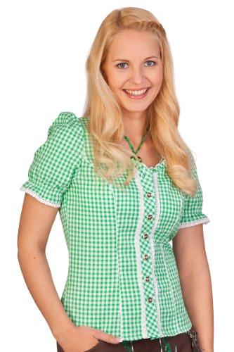 Trachten Bluse - PETRA - rot, grün, Größe 42