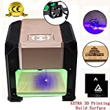 Laser Engraver, Doris Direct 3000MW with CE Certification Portable Laser Engraving Machine, Working Area 75 x 75mm with 2pcs 3D Printing Build Surface for Art Craft Science
