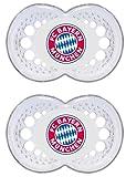 MAM 661747 - Ulti MAM Latex, Schnuller, Bundesliga: FC Bayern München, Doppelpack, sortiert: Farbe nicht frei wählbar