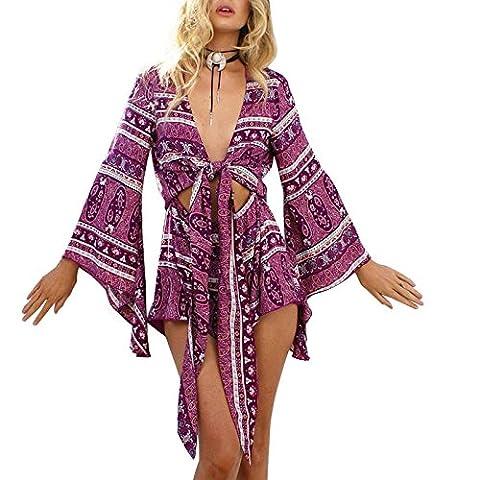La Taille Des Robes Dété - Sunroyal Femme Tenue de Plage Beachwear Paréo