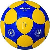 Mikasa Korfball K5-IKF - Pelota de baloncesto, color amarillo/azul, talla DE: 5