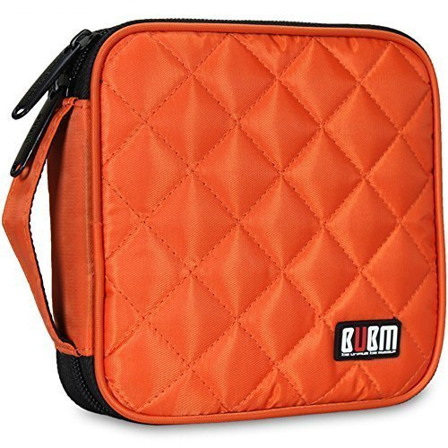32 Kapazität CD / DVD-Tasche, 230D Space Twill Cover - Orange
