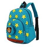 GWELL Stern Babyrucksack Kindergartenrucksack Kleinkind Kinder Rucksack Mädchen Jungen Backpack Schultasche blaugrün