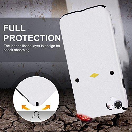 """iPhone 7 Hülle, Imikoko® iPhone 7 Rundumschutz Handy Hülle Schutzhülle Weich Silikon TPU Case Super Sweet Cute für Girl Frauen Mädchen(Weiß Küken, 4.7"""") Weiß Küken"""
