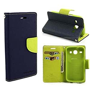 FINDX Luxury Lock Diary Wallet Style Flip Cover Case for ViVO Y31 -Blue
