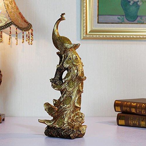BSQDJ-ornamenti/fortunata famiglia ornamenti ornamenti ornamenti//regalo di nozze ornamenti ornamenti/vino armadi/soggiorno decorazioni/ornamenti/Artigianato creativo ornamenti ornamenti ornamenti ornamenti/soggiorno/Office/Peacock ornamenti ornamento di resina,Golden