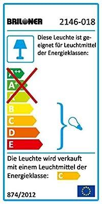 Briloner Leuchten Bad-Wandleuchte, Badlampe, Wandlampe, 1xG9, 28W, 380lm, dimmbar,Badezimmer/Bad geeignet IP44, chrom, 2146-018
