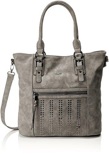 Gabor Tasche Damen Naomi Shopper, Henkeltasche, Grau (Grey), 16x33x39 cm