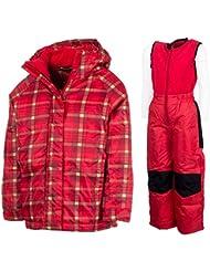 Combinaison de ski pour enfants Veste de ski Pantalon de ski de Jeunes Filles hiver Combinaison   Y de neige 42501cc