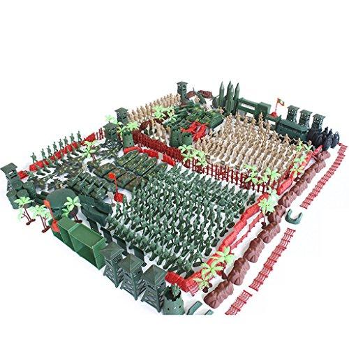 MagiDeal 488 / 520 Stück Armee Soldaten Figuren Spielset Satz - 5cm Soldaten Figuren, Armee-Büro, Tank, Panzer, Hubschrauber, Kampfflugzeuge und anderes Zubehör - 520 Stück (Arm-tank)