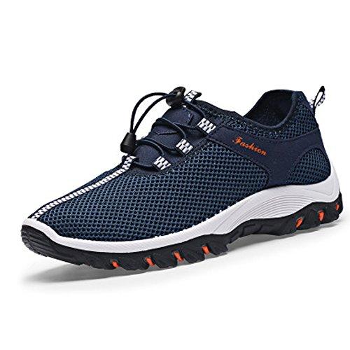 Chnhira, sneaker uomo traspirante sneakers morbido arrampicata scarpe da trekking sport, (dark bule), 42