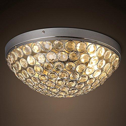 Plafond en Cristal, Plafond personnalisé de plexiglass, lumières Rondes d'entrée de Chambre à Coucher de Salon de création