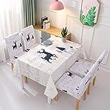 xurupeng Piccolo Tessuto Fresco, tovaglia per la casa, Set tovaglie e sedie, coprisedie Elastiche all-Inclusive