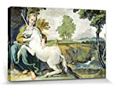 1art1® Domenichino - La Dama Y El Unicornio, 1602 Cuadro, Lienzo Montado Sobre Bastidor (120 x 80cm)
