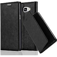 Cadorabo Coque pour Samsung Galaxy A5 2016 en Noir Nuit – Housse Protection avec Fermoire Magnétique, Stand Horizontal et Fente Carte – Portefeuille Etui Poche Folio Case Cover