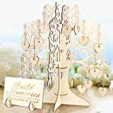 AerWo Wishing Tree Matrimonio Guest Book 3D Wooden Guest Sign Book Decorazioni di nozze vintage