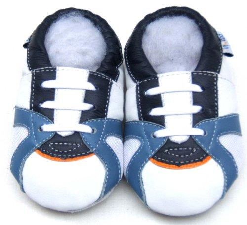 Jinwood , Chaussures souple pour bébé (garçon) Blanc - Blanc