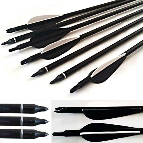 Pfeil 30 Zoll Bogenschießen Fiberglas-Pfeil ID 8mm für Outdoor Bogensport Recurvebogen traditionellen Langbogen und Compoundboge ()