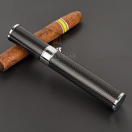 Primetraders Cohiba Gadgets Karbonfaser Schwarz Cigar Tube Holder Halt 1Zigarre Travel Fall Mini Zigarre Humidor Zigarette Aufbewahrungsbox (Tube Cigar Cohiba)