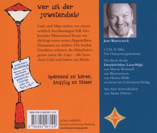 Detektivbüro LasseMaja. Das Diamantengeheimnis: Sprecher: Jens Wawrczeck. 1 CD. Laufzeit ca. 45 Min.: Alle Infos bei Amazon