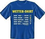 Lustiges Spass T-Shirt mit Namen: Wetter Shirt - Funshirt mit Wunschnamen als lustige Wetterstation