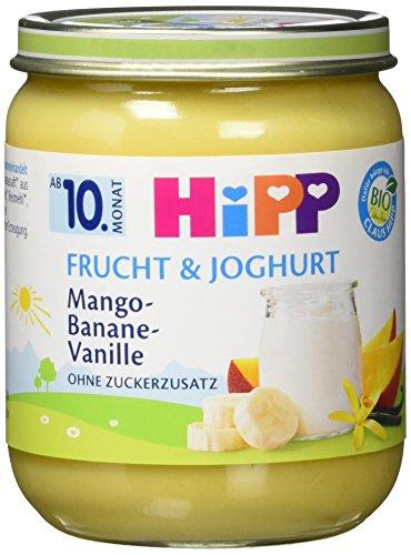 HiPP Mango-Banane-Vanille, 6er Pack (6 x 160 g) (Mango-vanille-extrakt)